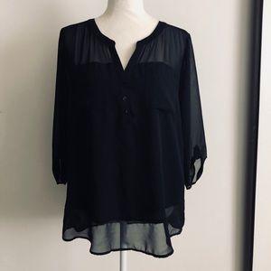 Express sheer black tunic